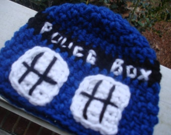 Doctor Who Inspired Baby Tardis Beanie and Newborn Prop