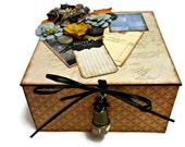 Jewelry Box, Trinket Box, Blue Gold Box, Mother's Day Gift, Home Decor  Box, Desk Accessories, Treasure Box, Bedroom Decor, Vintage Inspired