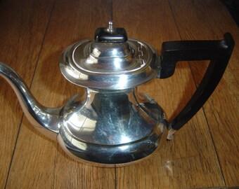 Vintage Viners Silver Plate Art Deco Coffee Pot.