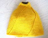 Banana beanie, yellow beanie, banana hat, OOAK, handmade, crochet - CraftyBeeYard