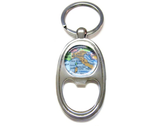 italy map bottle opener key chain. Black Bedroom Furniture Sets. Home Design Ideas