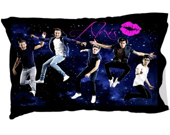 One Direction Crush Pillow Case, Boy Band, Personalized, Custom