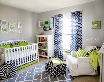 Nursery Art, Nursery Collage, Lime green and navy nursery, Madras Nursery, Airplane Nursery Set of 5, 8X10, 5x7, 11x14