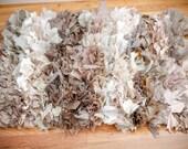 Custom small raggy rug for Laura Brown