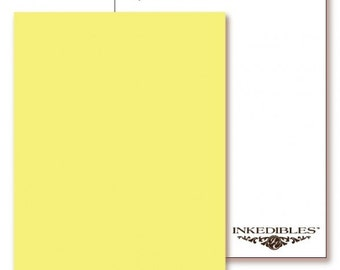 Inkedibles Premium Frosting ChromaSheets: 5 pack Letter Size (Pastel Yellow)