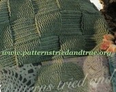 Crochet Afghan Pattern, easy for beginners, Masculine blanket, easy to follow pattern throw