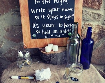 Custom Chalkboard Wedding Signage
