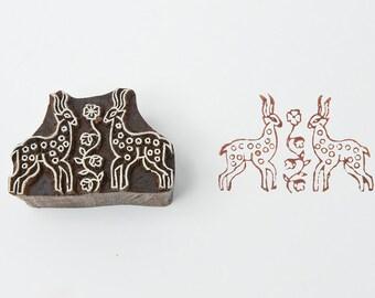 Temple Deer, wooden stamp