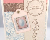 Pastel Easter Card - Easter Card - Easter Greetings - Pastel Colors - Vintage Style - Soft Colors - Blank Card - Decorative Tag