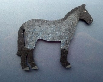 Whimsical Blue Roan Horse Magnet -Hand painted mare stallion colt pony