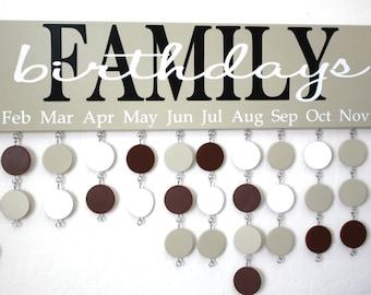 Family Birthday Board - Custom Family Birthday Sign - Custom Family Birthday Calendar - BDB