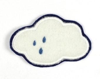 Patch cloud rain cloud 8,5 x 5,5cm