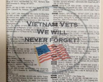 Vietnam Vet Print - We Will Never Forget!