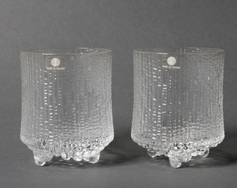 Iittala shot glasses, Iittala glass, Tapio Wirkkala glass, Ultima Thule glass, Scandinavian set of 2 glass, Modern glasses, Mid century gift