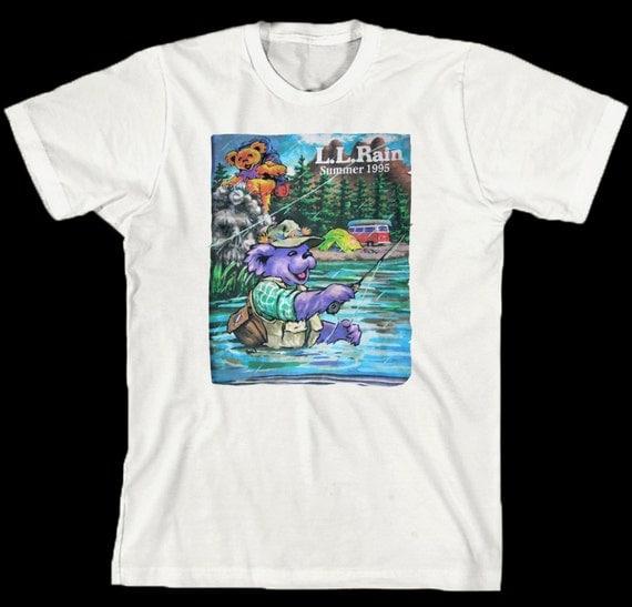 Grateful Dead T Shirt .... LL RAIN .. Summer Tour 1995 ...