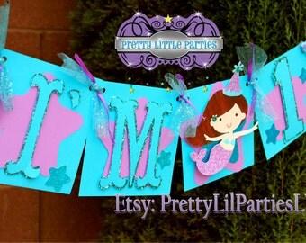 Adorable Mermaid 1st Birthday Party Set - Glitter - Under the Sea - Decorations - Girls - Decor - Celebration - Photo Shoot - Cake Smash