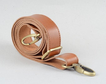 Top Grain Leather Shoulder Strap with adjust lenght for Crossbody carrying and shoulder carrying Leather Bag Accessory