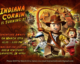 Indiana Jones Birthday Invitation Custom Printable