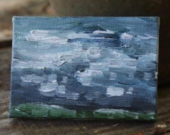 "Miniature Original Oil Painting ""A Once Pleasant Dream"""