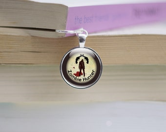 Zombie Bookmark -  Zombie gift ideas for book lovers - Zombie Photo Bookmarks (ZB1)