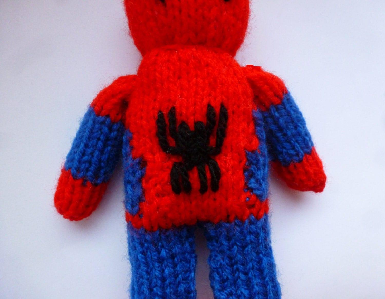 Knitting Pattern For Spiderman Doll : PDF knitting pattern: Spiderman from NerdKnitting on Etsy ...