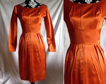 SALE - Vintage Orange Colored Sky Dress