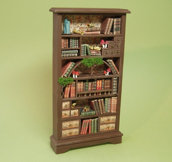 A Bizarre Bookcase 1:12 Or 1/12 Scale By TinytownMiniatures