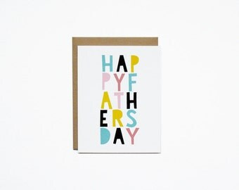 Father's Day Card - Happy Colour Blocks