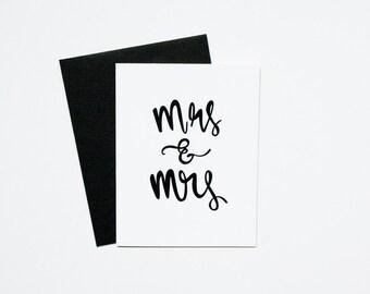 Wedding Card - Mrs & Mrs