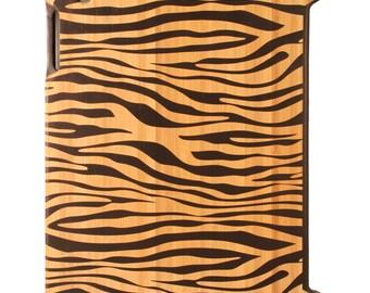 Charred Bamboo iPad 2,3,4 case, Zebra print design UK