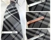 Skinny Tie Bar - Personalized Tie Clip, gift under 20, men's gift, groomsman gift, wedding, bespoke, initials