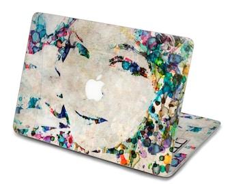 Back cover of macbook Decal Macbook Air Sticker Macbook Air Decal Macbook Pro Decal 水彩女