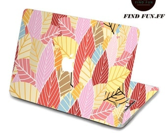 back cover of decal Macbook Air Sticker Macbook Air Decal Macbook Pro Decal 叶子-049