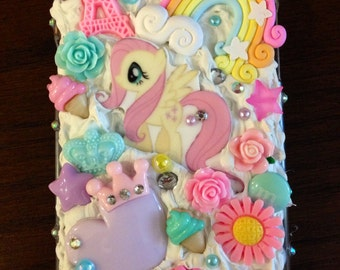 Pink & Pastel Fluttershy Pony DecoDen Bling Bronie Case for Samsung Note 2