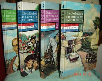 The GOLDEN BOOK History of The United States, Volumes # 1, 2, 3, 4.  1963. very good condition.