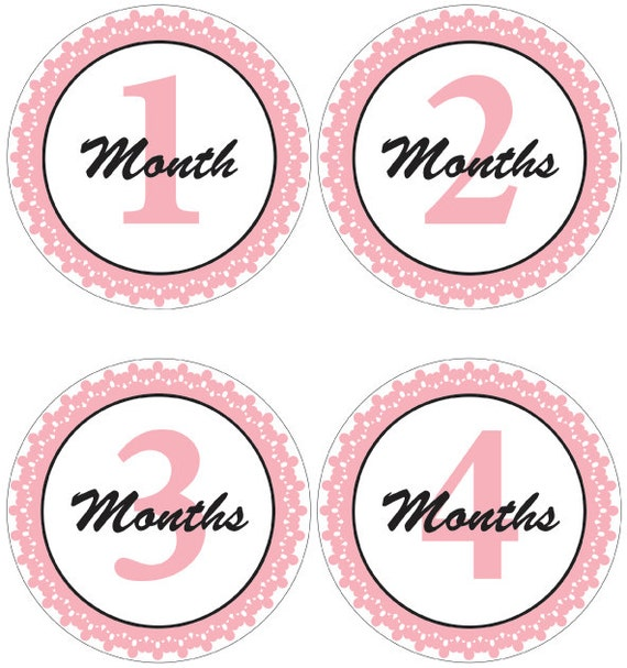 Magic image with regard to baby month stickers printable