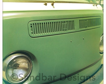 4 x 4 photo card-Pistachio VW bus