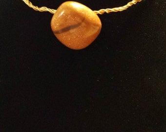 Goldstone Copper wire wrapped choker