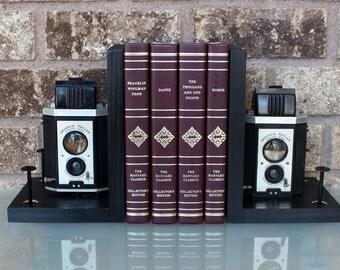 Kodak Brownie Reflex Synchro Model - Antique Decorative Camera Bookends