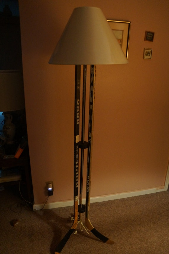 Hockey Stick Lamp Hockey Twig Floor Lamp
