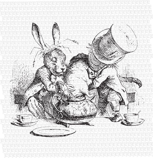 vintage clip art alice in wonderland - photo #50