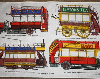 Omnibus Vintage Linen Tea Towel
