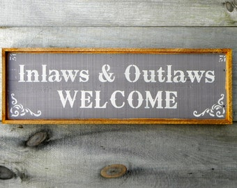 Welcome Sign Rustic Wood Signs Outdoor Sign Western Home Decor Country Signs