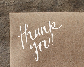 Thank You! Handwritten Calligraphy Rubber Stamp
