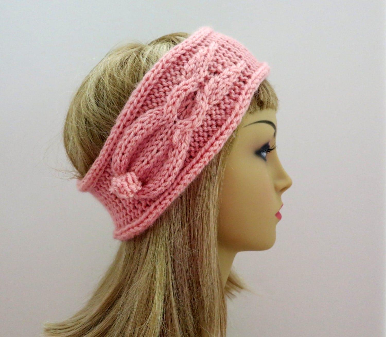 Knitting Pattern Rabbit Hat : Hat Headband Knitting Pattern Bunny Rabbit Beanie Tam