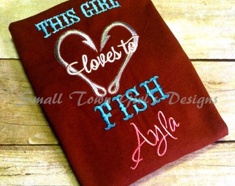 GG1248 girl loves to fish embroidery design
