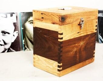 Reclaimed Wood Record Box