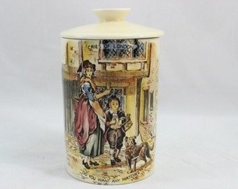 Cries of London Crown Devon Ceramic Lidded Jar