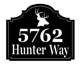 Deer Address sign - Personalized Address Metal Sign - Custom Address sign