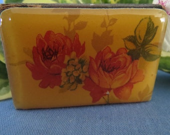 Gorgeous Vintage Celluloid Top Match Box